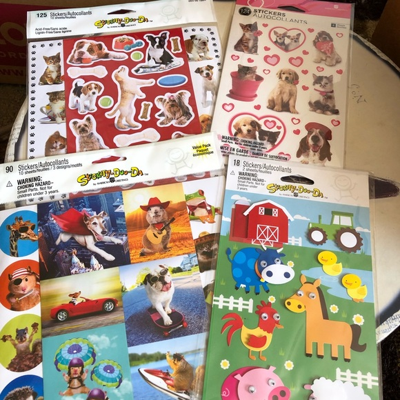Other - 4 packs of 357 stickers Cats Dogs Animals